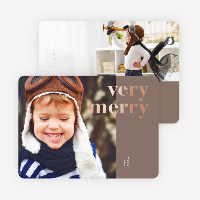 Foil Wishes Christmas Cards - Gray