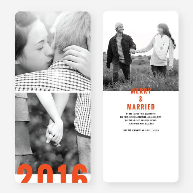 Milestone Year New Year Cards - Orange