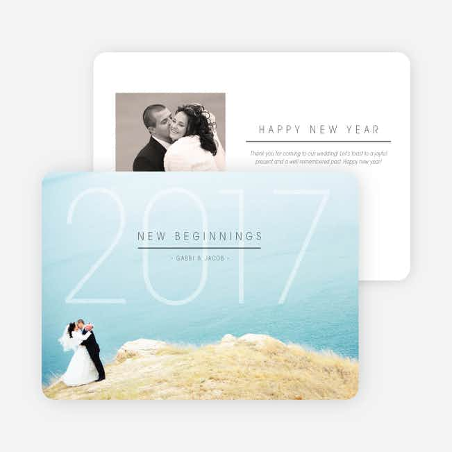 New Beginnings New Year's Cards - Black