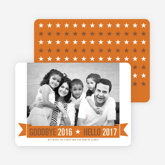 New Year Star Cards - Orange