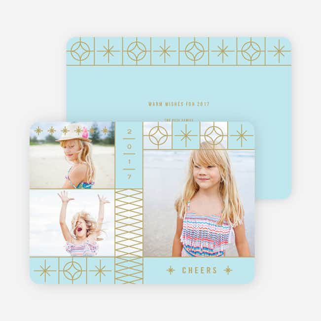 Photo Stars New Year Cards - Blue