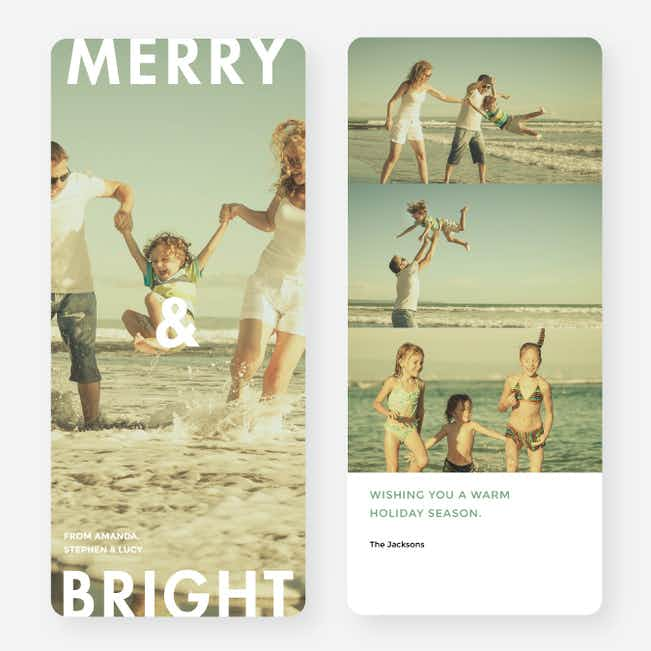 Top to Bottom Holiday Cards - Green