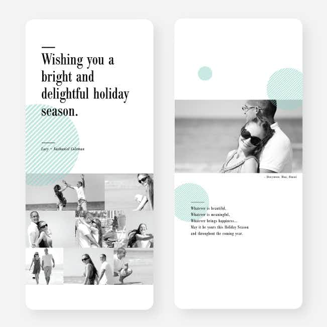 Bright and Delightful Holiday Cards - Blue