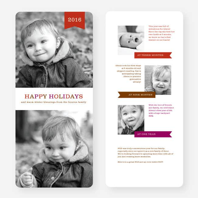 Fun Holiday Cards - Red