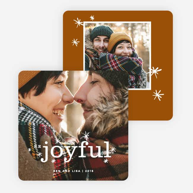 Be Joyful Holiday Cards - Brown