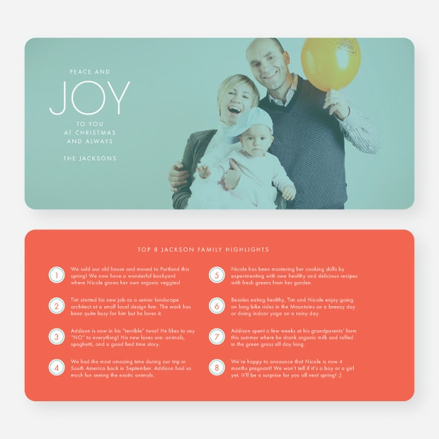 Famous Year in Review Holiday Photo Cards | Paper Culture YM91