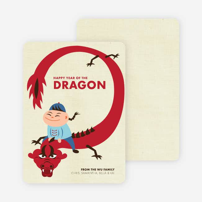 Happy Year of the Dragon Chinese New Year Cards - Strawberry