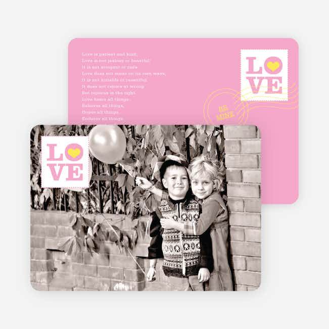 Stamp of Love Valentine's Day Cards - Cotton Candy