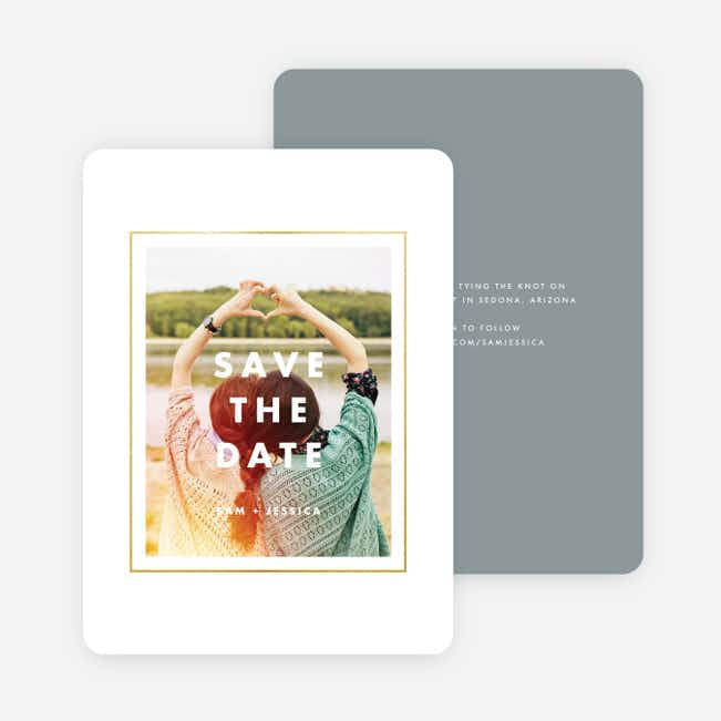 Modern Photo Save The Dates - Gray