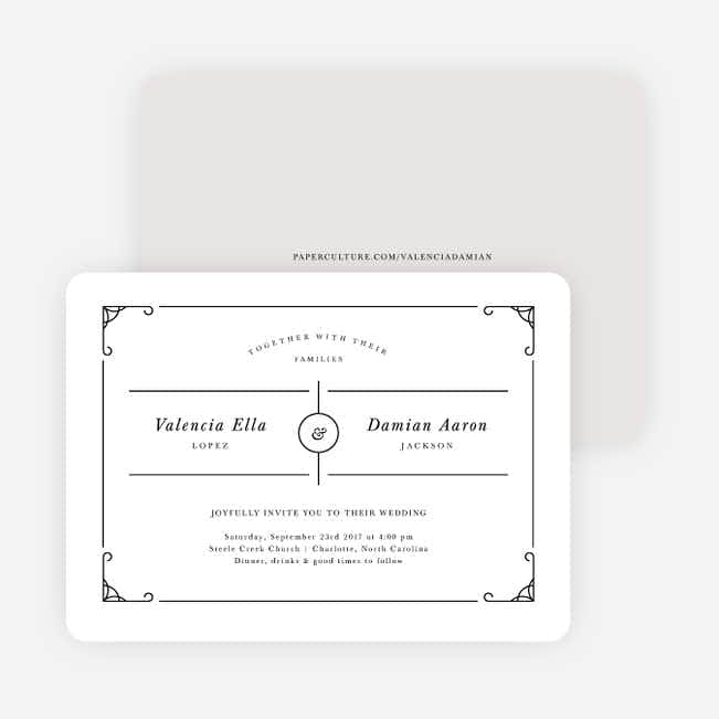 Chic Sophistique Wedding Invitations - Black