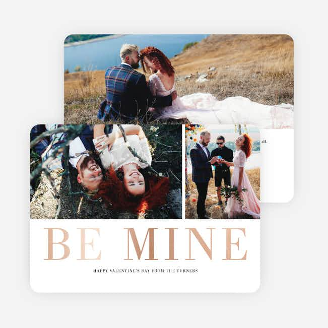Be Mine Valentine's Day Cards - Pink