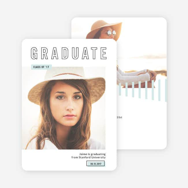 University Graduation Announcements - Blue