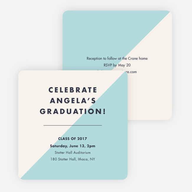Classic but Fun Graduation Announcements - Beige