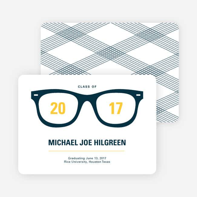 The Future is Bright Graduation Announcements - Yellow