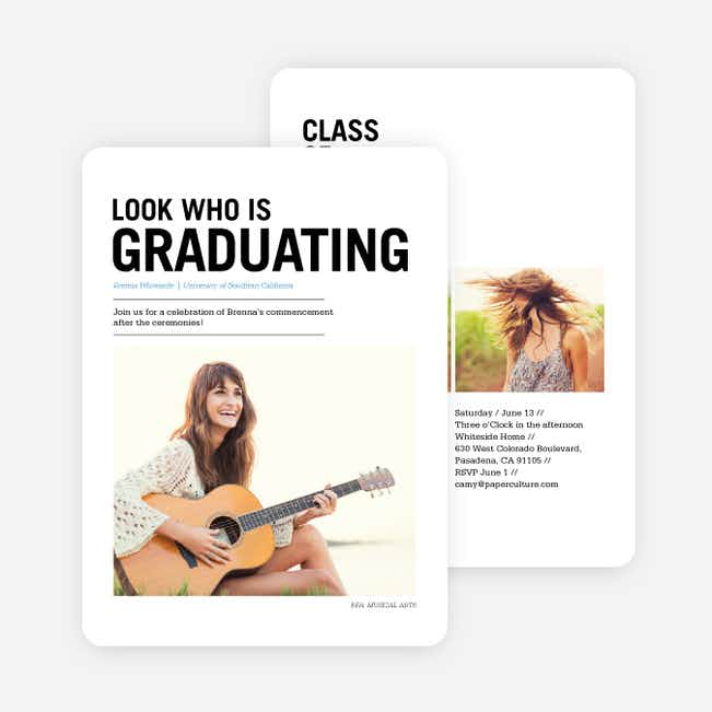 Newsflash Graduation Invitations - Blue