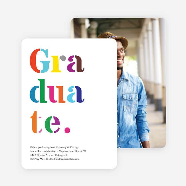 Stacked Graduation Announcements for College - Multi