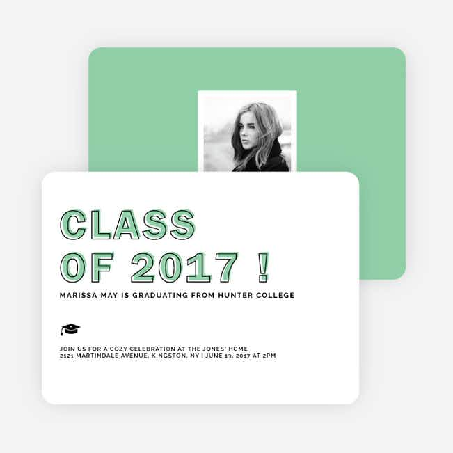 Class-y Graduation Invitations - Green