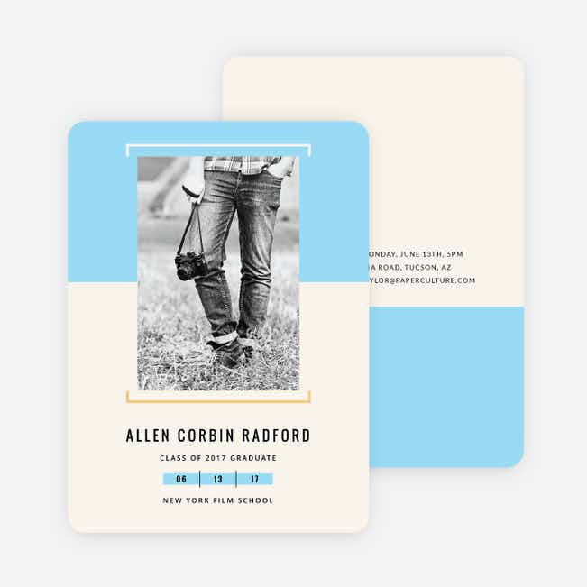 Two-Toned Graduation Invitations - Blue