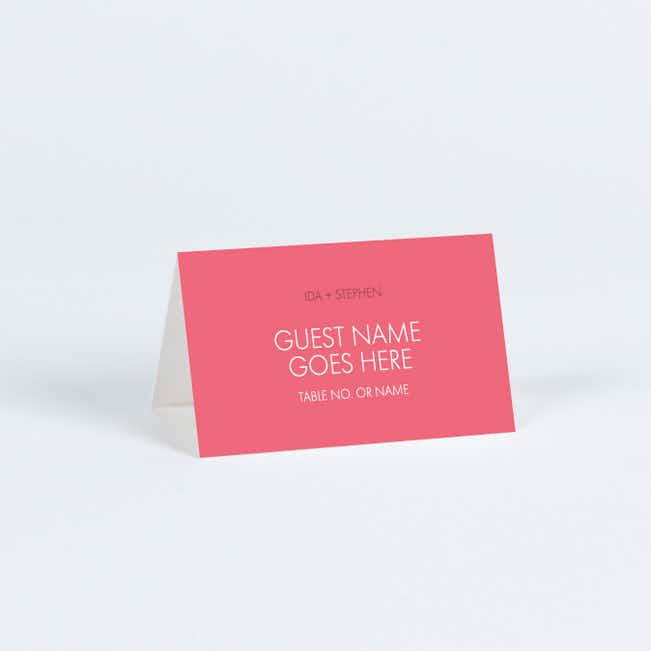 All Caps Place Cards - Pink