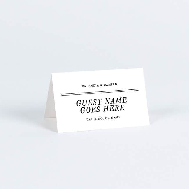 Chic Sophistique Place Cards - Black