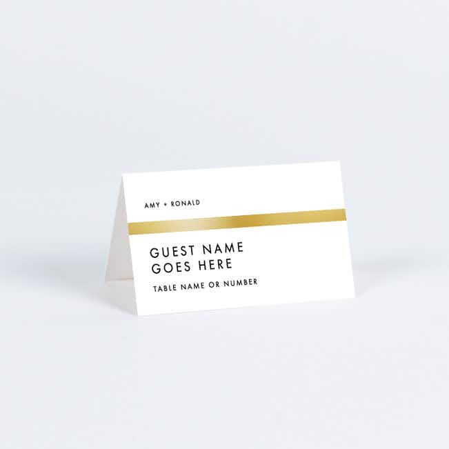 Stripe It Place Cards - Black