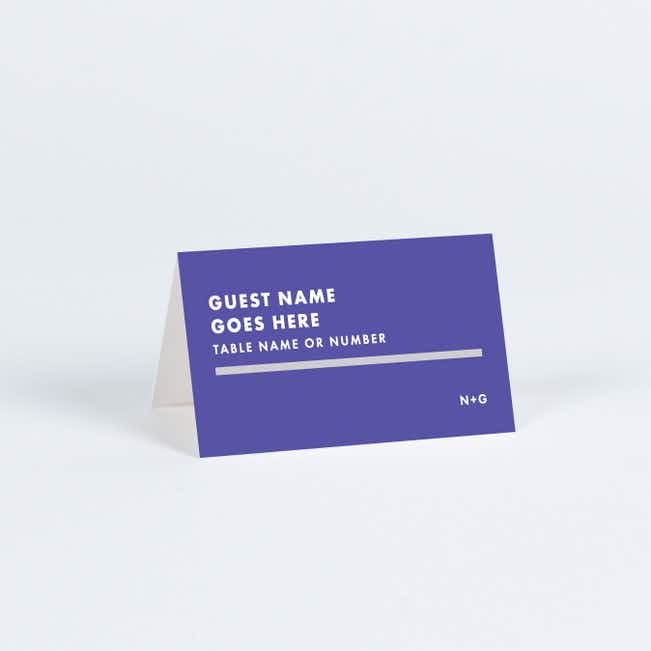 Today's Modernist Place Cards - Purple