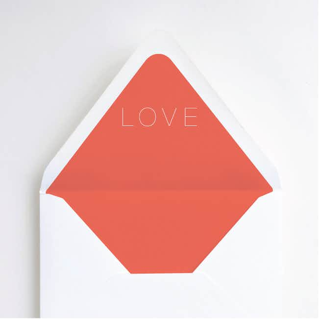 Simply Married Envelope Liners - Orange