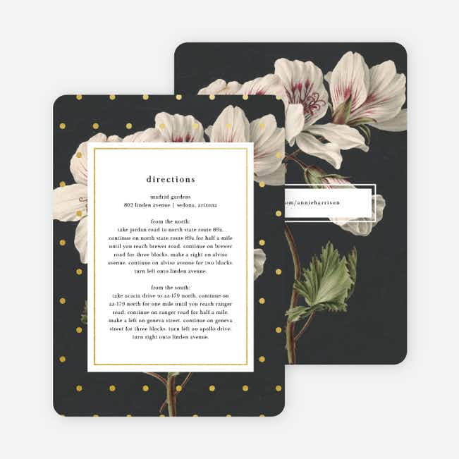 Floral Bliss Wedding Direction Cards - Gray