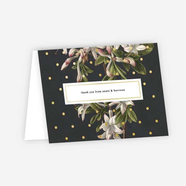Floral Bliss Wedding Thank You Cards - Gray