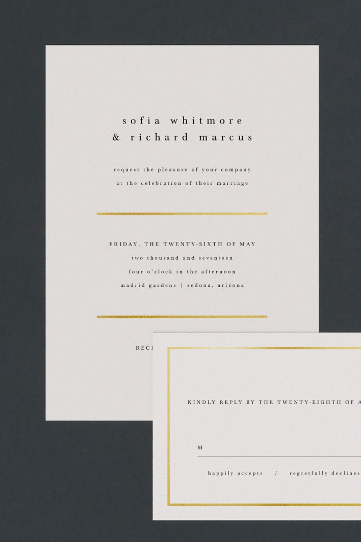 Less Is More Wedding Invitations