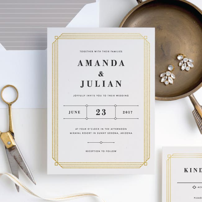 art deco wedding invitations paper culture