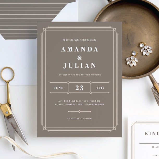 Art Deco Wedding Invitations.Art Deco