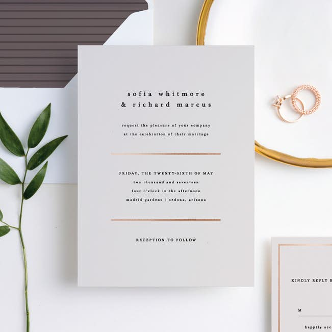 less is more wedding invitations paper culture