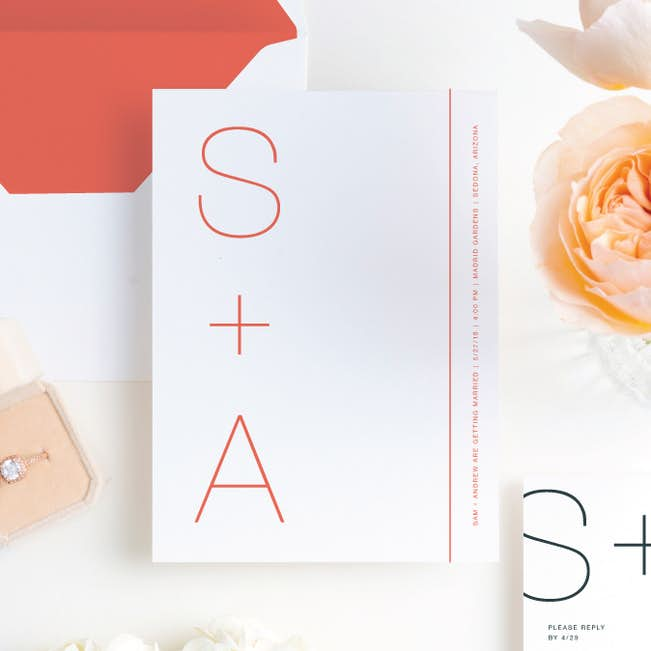 simply type wedding invitations paper culture