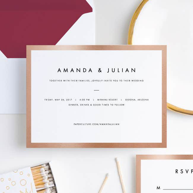 Wedding Frame of Mind Wedding Invitations - Red