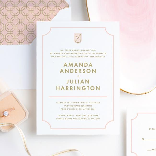 Tomorrow S Crest Wedding Invitations Paper Culture