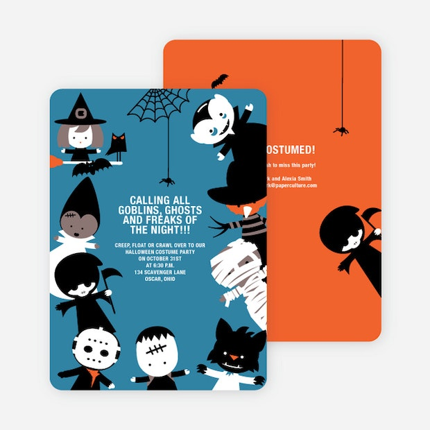 Costume Party Halloween Invites | Paper Culture