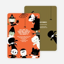 Halloween party invitations and cards paper culture costume party halloween invites orange stopboris Gallery