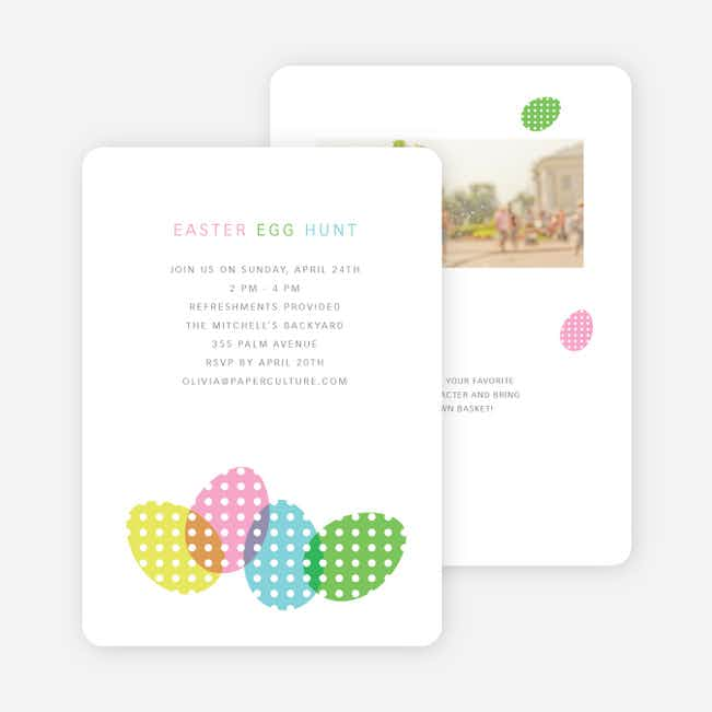 Easter Egg Hunt Party Invitations - Multi