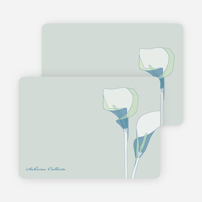 elegant flowers personal stationery paper culture