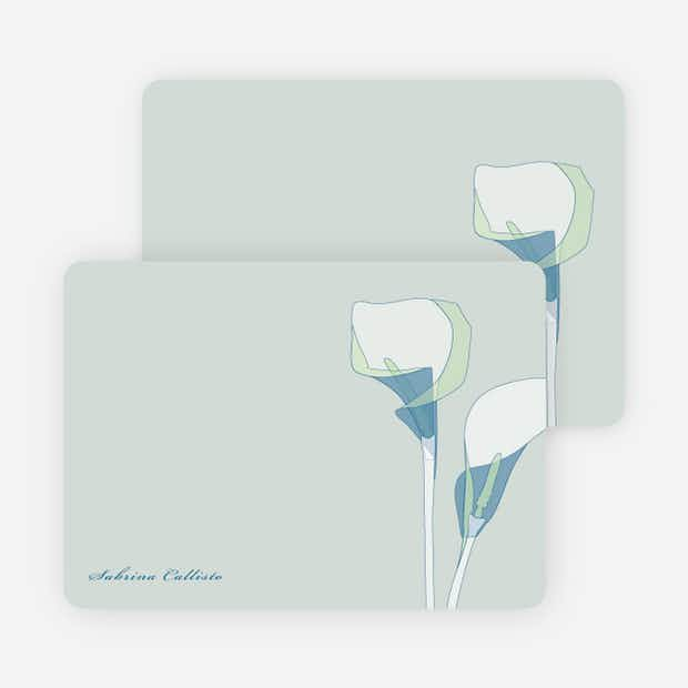 Elegant Flowers: Personal Stationery - Main