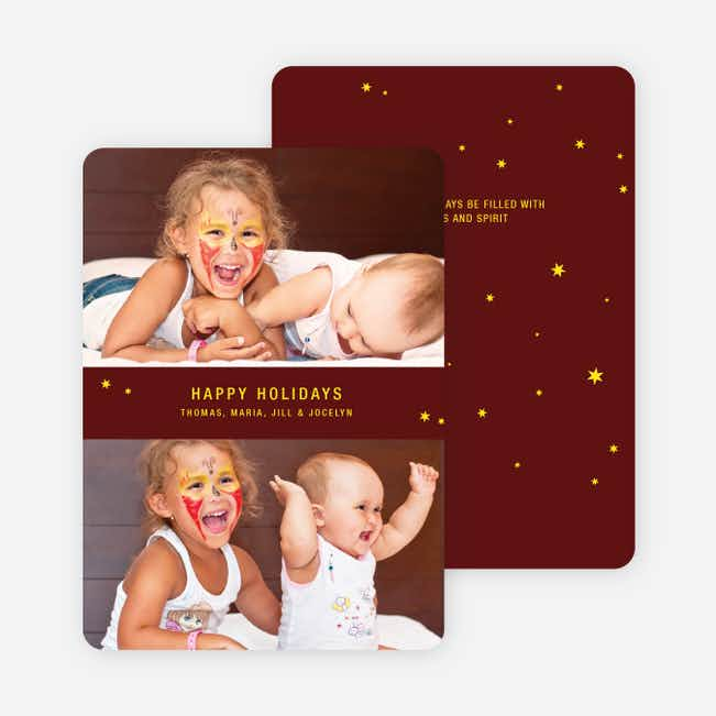 Holiday Angel: Happy Holidays Cards - Lemon Yellow