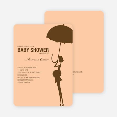 e7a8cd1da3a43 Modern Maternity Baby Shower Invitations - Cocoa