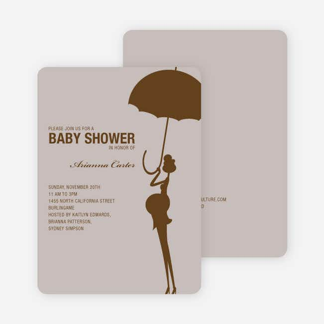 Modern Maternity Baby Shower Invitations - Cocoa