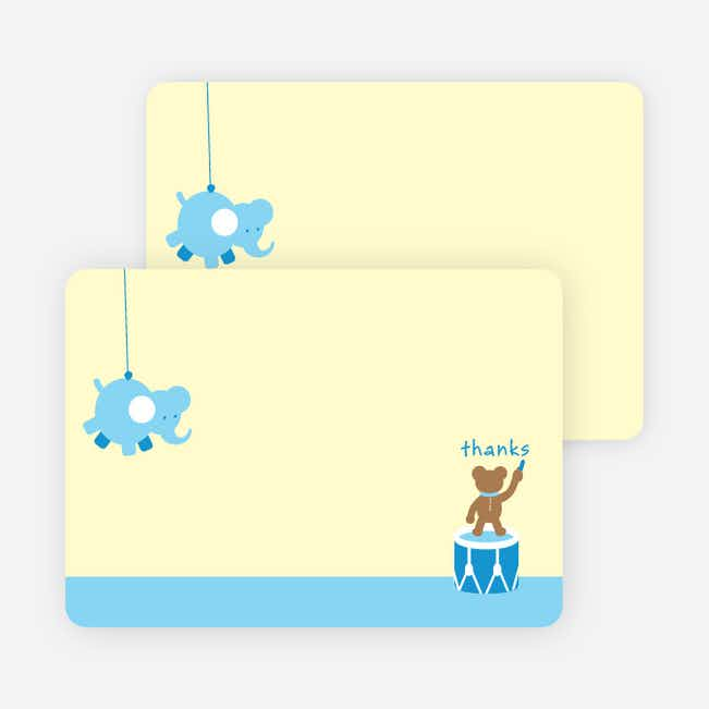 Notecards for the 'Nursery Animals Gone Wild' cards. - Sky Blue