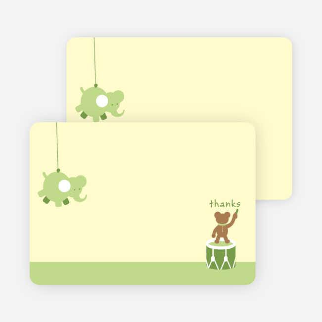 Notecards for the 'Nursery Animals Gone Wild' cards. - Keylime