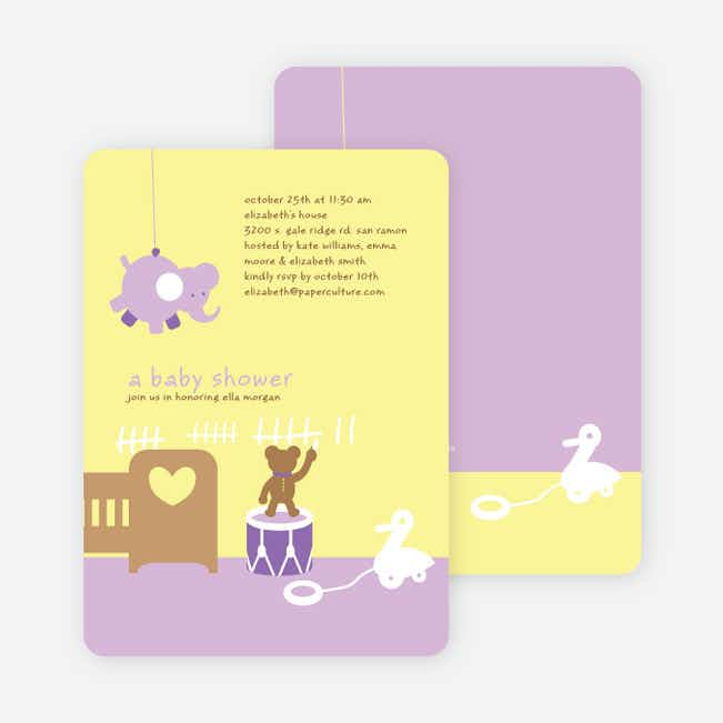 Stuffed Animals Take Over the Nursery Baby Shower Invitations - Wisteria