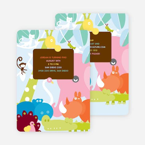 Kids birthday invitations paper culture where the wild things live birthday invitation chocolate brown filmwisefo