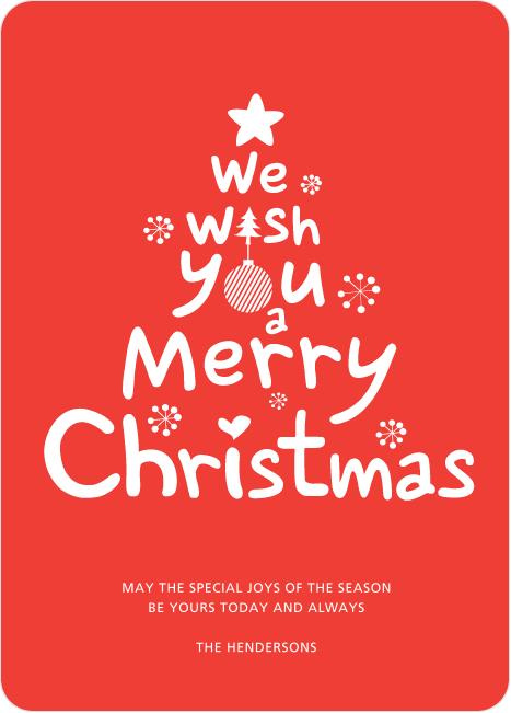 Goldfish /& Christmas Tree Xmas Card–Funny Christmas Card Merry Christmas Card