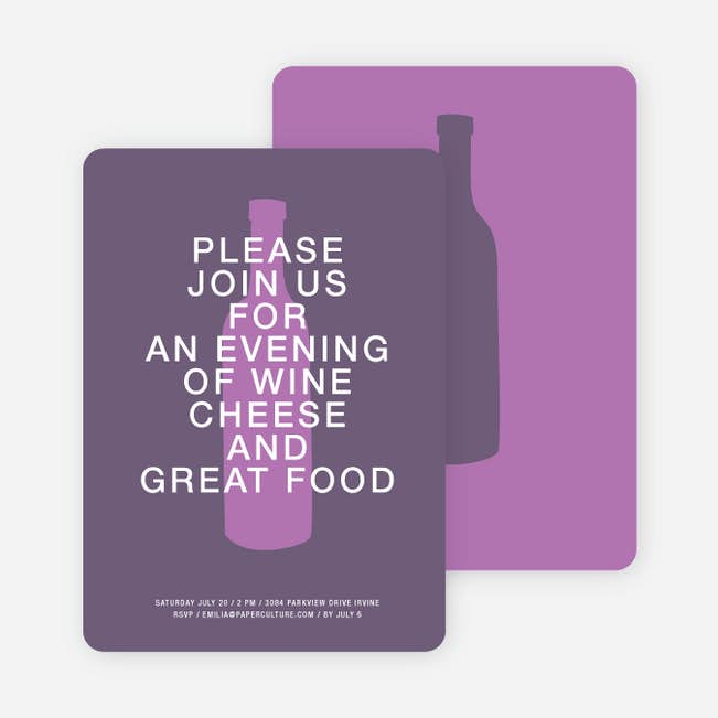 wine and cheese party invitations paper culture